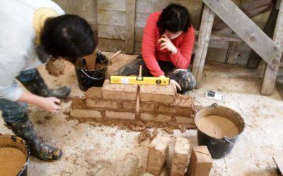 Terre crue: un chantier en insertion accompagné par HEN à Orvault